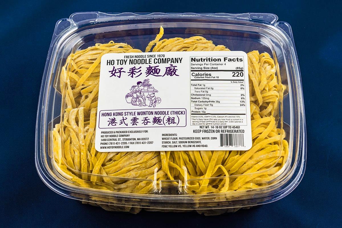 Hong Kong Style Wonton Noodle (thick)