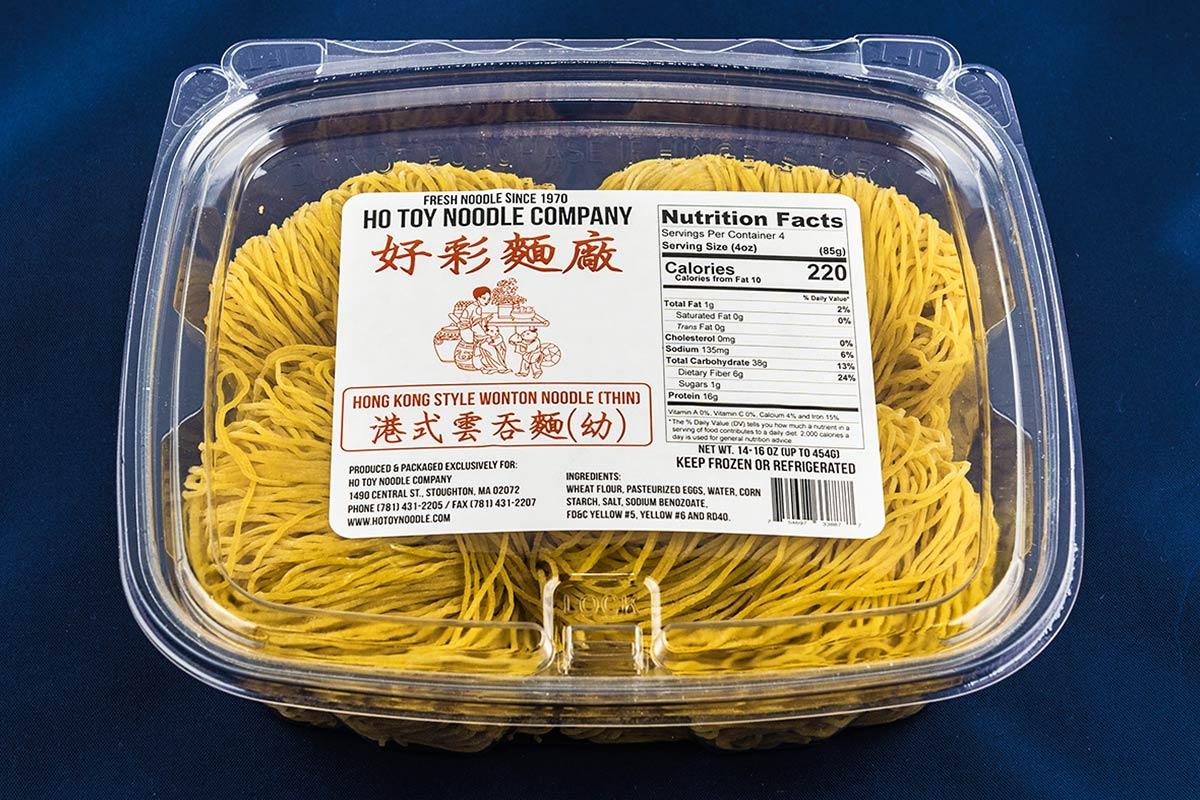 Hong Kong Style Wonton Noodle (thin)